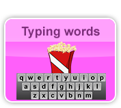 typing words